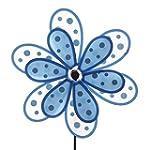 Blue Polka Dot Double Flower Windmill