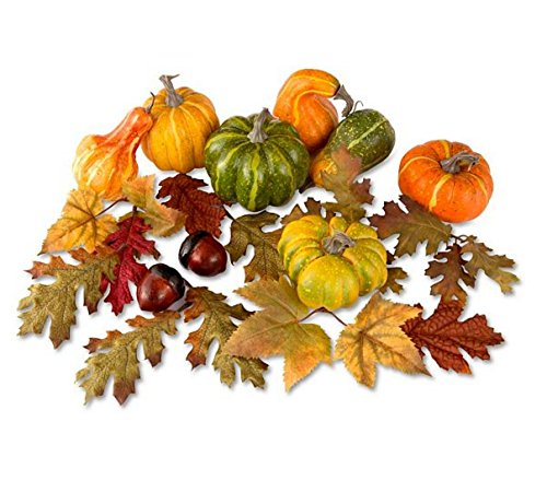Gourd, Leaves and Acorn Centerpiece Collection (7 Gourds,
