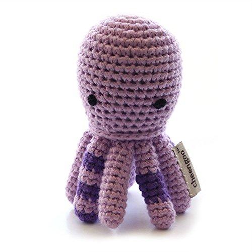 Cheengoo Organic Crocheted Octopus Rattle