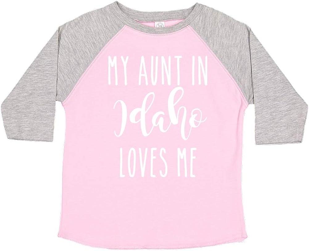 My Aunt in Idaho Loves Me Toddler//Kids Raglan T-Shirt
