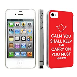 NakedShield Apple iPhone 4S / 4 [Red Keep Calm Carry On] Slim Art Phone Cover Case