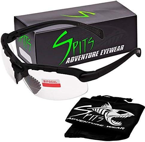 Spits Eyewear C2 Top 拡大狩猟撮影 双焦点安全メガネ ブラック サングラス フレーム