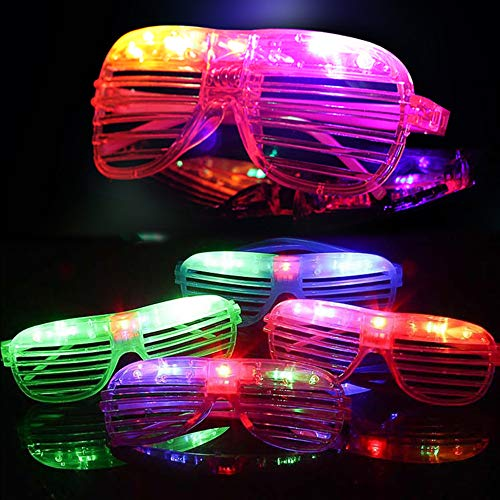 Randosk 24 Pack LED Glasses Glow in The Dark Party Favors Supplies for Kids Light Up Toy Bulk with Flash Light 3 Replaceable Battery for Mother's Day Birthday Holiday Outdoor Party by Randosk (Image #6)