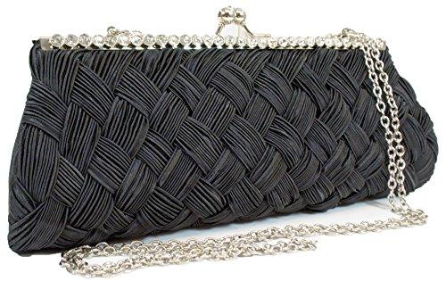 Womens EV2604 Stone BK Bag Purse Clutch Evening A In Design dFC8nqHdxw