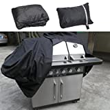 Camping & Hiking,Dartphew 1Pcs Extra Large BBQ Cover- Heavy Duty Waterproof Rain Snow Barbeque Grill Protector,for Outdoor Hiking Camping Hunting Barbeque (Cool Black,Size:145 x 61 x 117 cm)