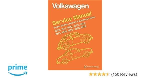 Volkswagen service manual super beetle beetle karmann ghia 1970 volkswagen service manual super beetle beetle karmann ghia 1970 1979 volkswagen of america 9780837616230 amazon books fandeluxe Images