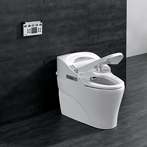 Ove Decors SMART TOILET Single Flush System and Heated Seat with Remote Control, White