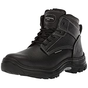 Skechers Mens Tarlac Steel Toe Work Boot – Black