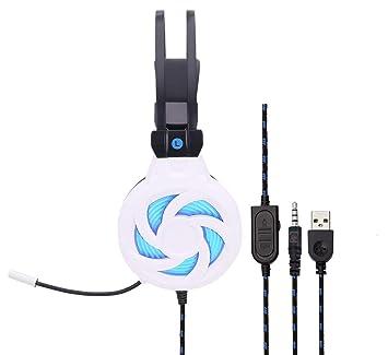 Con micrófono luz LED con reducción de ruido USB para PS4 ...