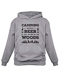 Tstars Camping Without Beer is just Sitting in The Woods Funny Camper Gift Hoodie