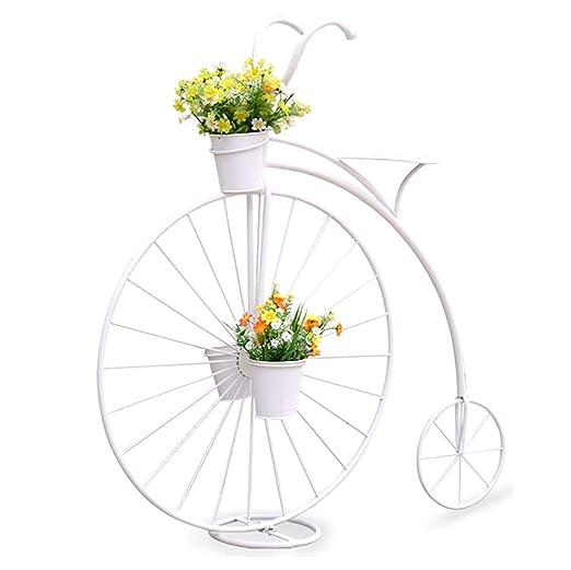 LWJJHJ Soporte de Flores Soporte para Plantas Estilo Bicicleta, En ...