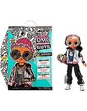 LOL Surprise OMG Guys COOL LEV modedocka. Med 20 temaöverraskningar, designerkläder och fashionabla tillbehör. Samlarleksak för pojkar och flickor från 4 år