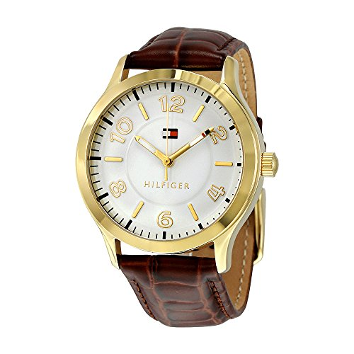 Tommy Hilfiger Silver Dial Brown Leather Ladies Watch 1781602