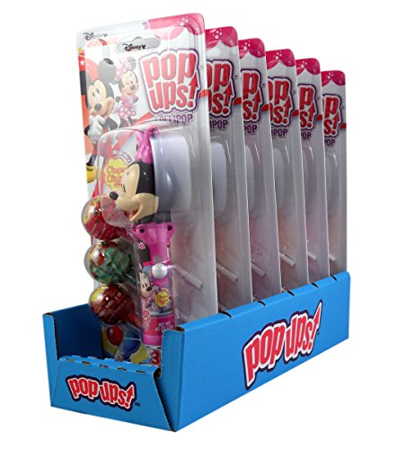 Disney Mickey and Minnie Mouse Pop Ups Lollipop Case with Chupa Chups, 1.26 oz (Pack of 6)