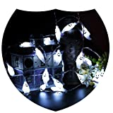 Halloween Ghost String Lights for Christmas,Party,New Year,Home Décor[6.5 Feet&20 White Lights]