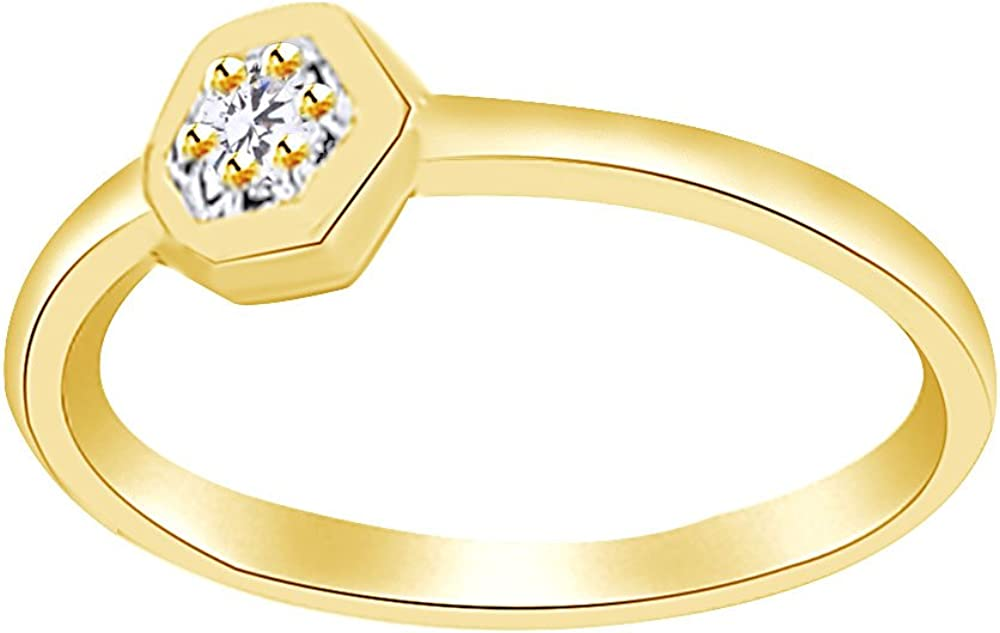 Wishrocks Round Cut White Cubic Zirconia Halo Engagement Ring in 14K Yellow Gold Over Sterling Silver
