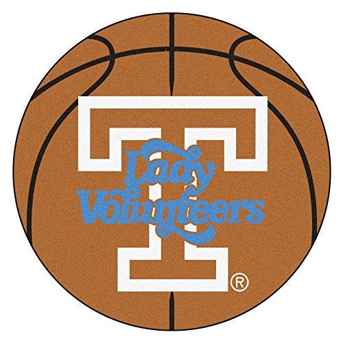 (NCAA University of Tennessee Volunteers Basketball Shaped Mat Area Rug)