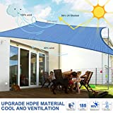 MOVTOTOP Sun Shade Sails 12x16 FT Rectangle, 185