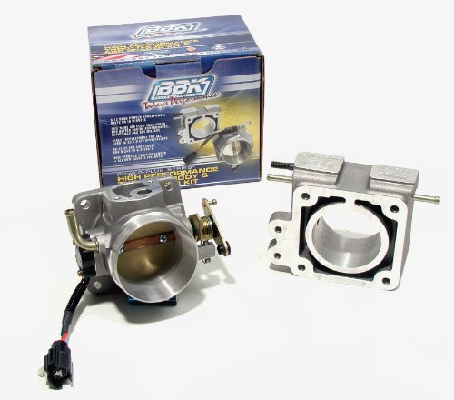 BBK 1600 75mm Throttle Body And EGR Spacer Plate Kit - High Flow Power Plus Series for Ford Mustang 5.0L (Throttle Body Egr Spacer)