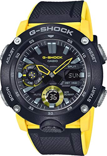 Casio Mens Analogue-Digital Quartz Watch with Resin Strap GA-2000-1A9ER (Best Selling G Shock 2019)