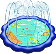 Neteast Outdoor Sprinkler Toys Outside Splash Pad Water Toys for 1 2 3 4 5 6 7 8 Year Old Boys and Girls Baby