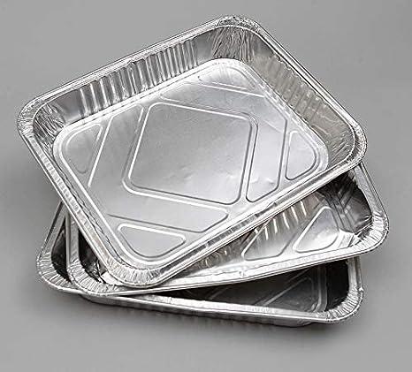 12/½ x10/½ x1/½ Packs of: 10//25 // 50 10 Half Gastronorm Delipak Large Disposable Aluminium Foil Baking//Roasting Pan//Tray