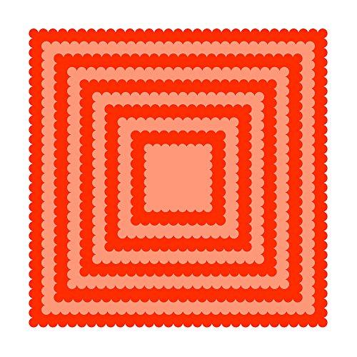 (Tonic Studios LayeringDieScallopSquare 1453E Layering Basic Dies-Scalloped Squares, None)