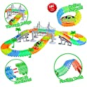 ZiChuangWen Track Toys Race Tracks with 144 Pc Flexible Tracks