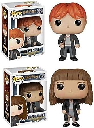Funko POP! Harry Potter: Ron Weasley + Hermione Granger ...