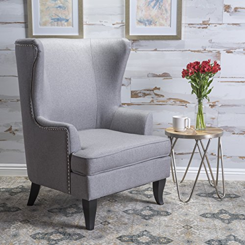 high back living room chairs discount. finlay high back grey fabric wing chair living room chairs discount n