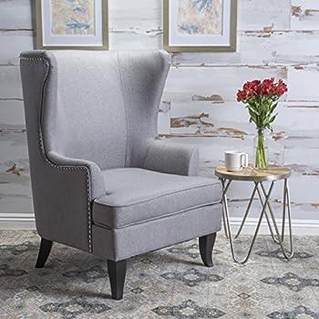 innovative modern high back living room chairs | Amazon.com: Elle Decor Mid-Century Modern Wingback Chair ...