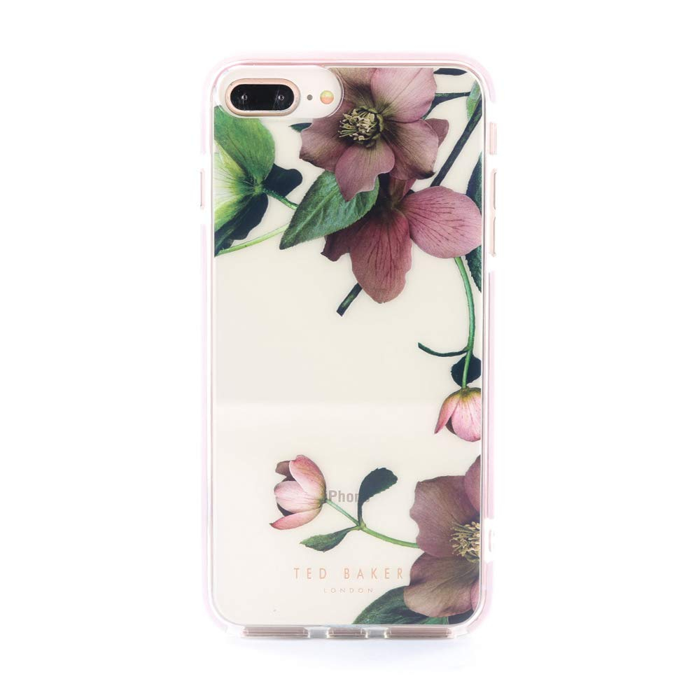 Ted Baker Fashion Premium Quality Arboretum Anti-Shock Case for iPhone 6 Plus / 7 Plus / 8 Plus, Highly Protective Cover for iPhone 7 Plus / 8 Plus - Clear Back by Ted Baker