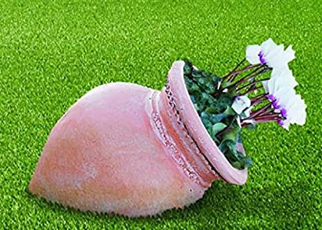 DEGARDEN Tinaja de decoración del jardín en Color y Acabados Terracota Barro cocido en Piedra Artificial (Hormigón) para Exterior | Maceta orza 62X36cm.: Amazon.es: Jardín