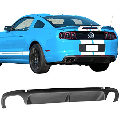 Rear Bumper Diffuser Fits 2013-2014 Ford Mustang Shelby GT500 Super Snake PP Splitter Spoiler Valance Chin Diffuser Body kit by IKON MOTORSPORTS - Mustang Ford Valance