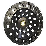 "7'' Diamond T Segment Concrete Grinder Blade Grinding Cup Wheel 7/8""-5/8"" Arbor"