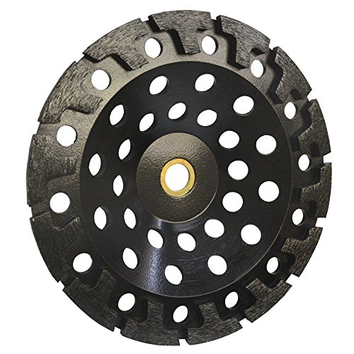 "PROLINEMAX 7'' Diamond T Segment Concrete Grinder Blade Grinding Cup Wheel 7/8""-5/8"" (7' Diamond Grinding Wheel)"