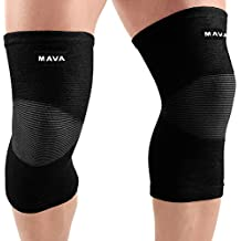 Mava Sports Knee Support Sleeves (Pair) Joint Pain & Arthritis Relief, Improved Circulation Compression – Effective Support Running, Jogging,Workout, Walking & Recovery