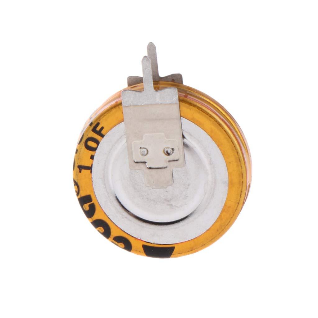BIlinli 2 St/ück Universal 5,5 V 1,0 F Superkondensator V-Typ-Taste Smart 5 mm Kapazit/ät