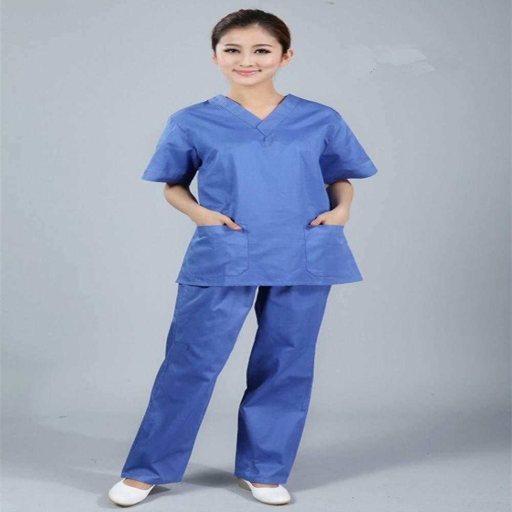 OPPP Ropa médica Traje de Uniforme médico, Uniforme de Enfermera, con Cuello en V, Ropa de Manga Corta, Lavado quirúrgico: Amazon.es: Deportes y aire libre