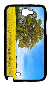 for cheap case summer canola field PC Black case/cover for samsung galaxy N7100/2