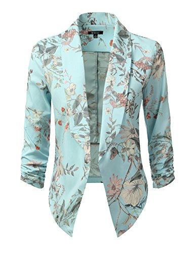 dressis-womens-floral-lightweight-ruched-sleeve-open-front-blazer-floralblue-s