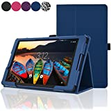 ACdream Lenovo TAB3 8 Case, Folio Protective Premium Leather Tablet Case for Lenovo TAB3 8 inch Tablet(2016 release), Dark Blue