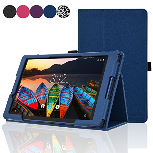 ACdream Lenovo TAB3 8 Case, Folio Protective Premium Leather Tablet Case for Lenovo TAB3 8 inch Tablet(2016 release),