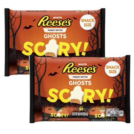 REESE'S White Peanut Butter Snack Size Ghosts 10.2 Ounce, 2 ()