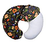 Boppy Cotton Blend Nursing Pillow and Positioner Slipcover, Black Floral