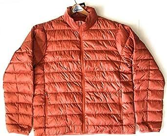 Eddie Bauer Mens Cirruslite Down Jacket Dark Orange Large