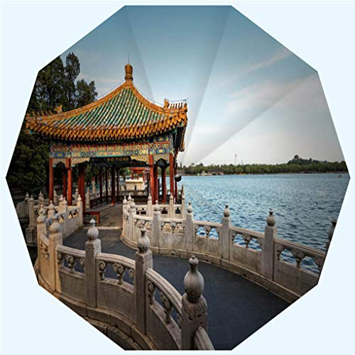 - Fashion Travel Umbrella Sun Umbrella UV protection automatic opening and closing, China Beijing Imperial Garden, windproof - rainproof - men - ladies - versatile - 42 inches