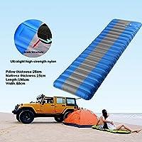 LABABE Sleeping Pad inflable con bomba incorporada. Almohadilla auto inflable liviana para dormir. Piscina flotante. Ligero y compacto Aislamiento ...