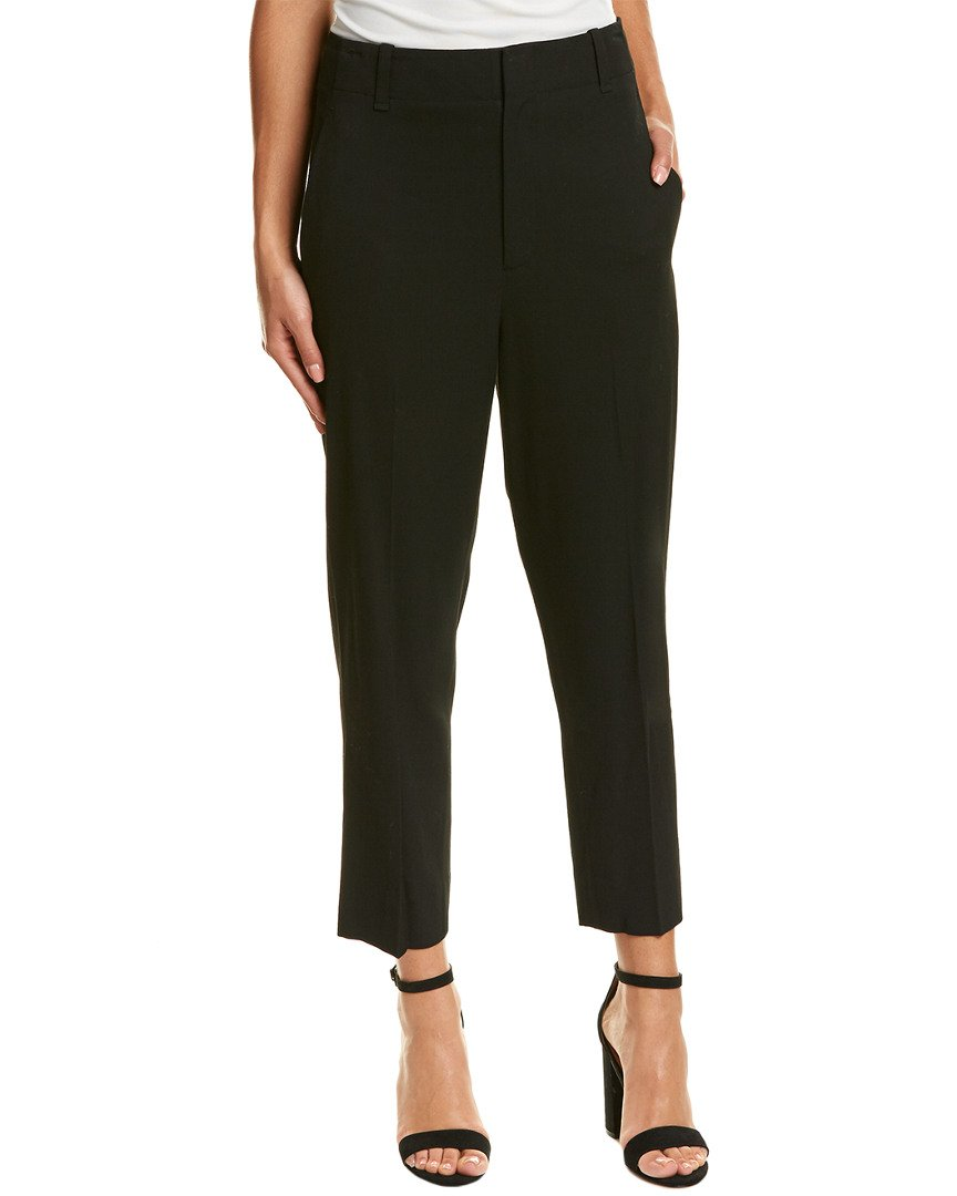 Vince Women's Carrot Shape Pant, Black, 6