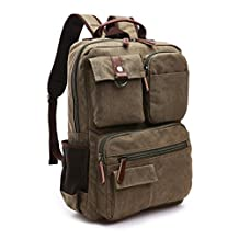 Nanxson New Fashion Great Canvas Unisex Retro Vintage Backpack Rucksack for University Outdoor Camping Picnic Sports Laptop Backpack Multi-function Bag AL5041 (green)
